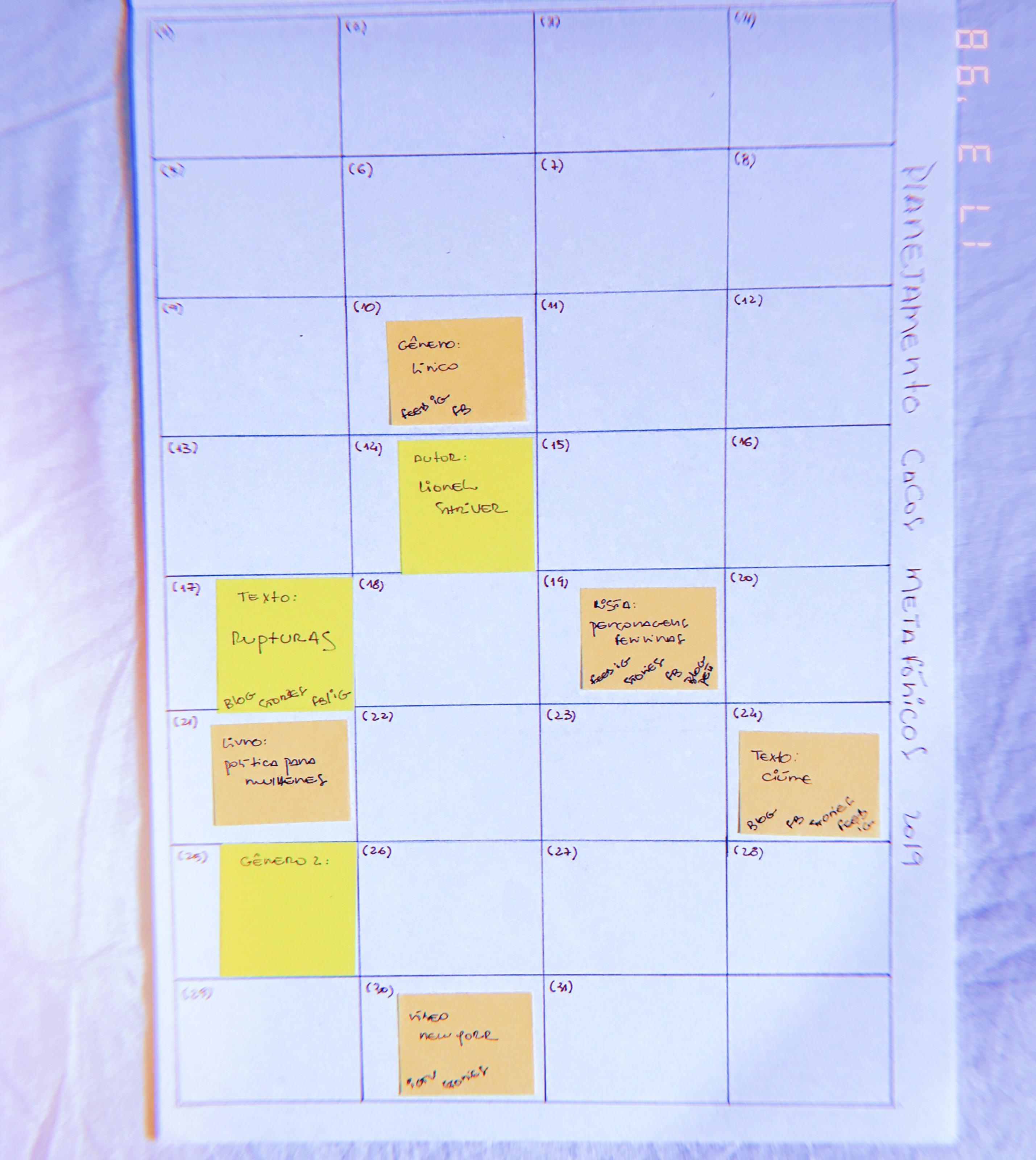 93d959c5b Nesse ano, por exemplo, eu tô testando um planejamento analógico para os  conteúdos do Cacos Metafóricos